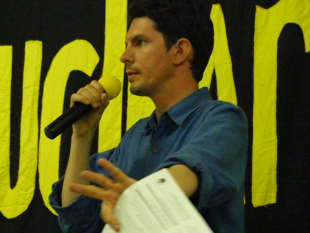 Scott at a Nuclear Rally